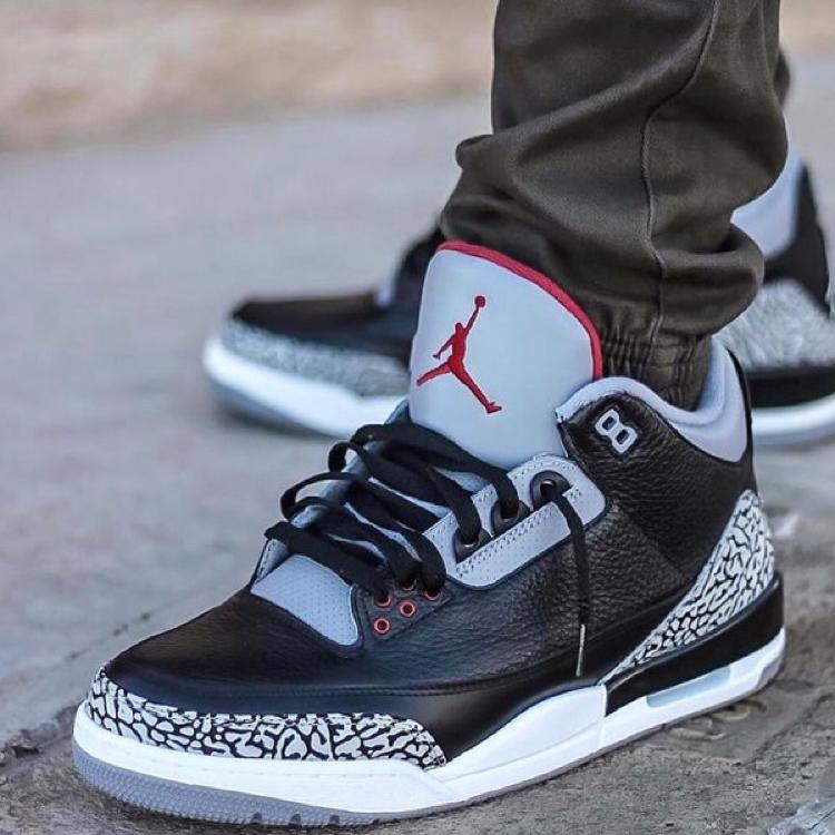 jordan retro black cement 3